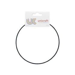 BLACK CIRCLE METAL HOOP Ø 150 mm