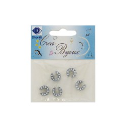 Metal glide letter with strass - C (5 pcs)