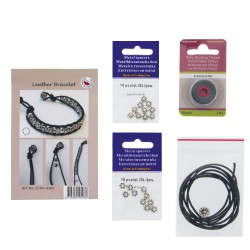 Crea Kit jewelry Leather Bracelet ''Daisy''
