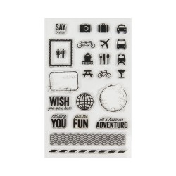 Cricut Clear stamp Traveling Together