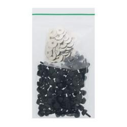 Nose black w/met washer 12 100