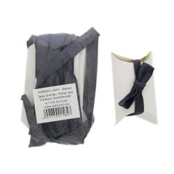 Pillow gift boxes white with ribbon 8,7x6,5x3cm 20pcs