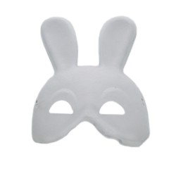 Mask white paper Half Bunny
