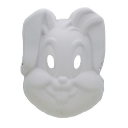 Mask white paper Bunny