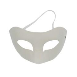 Mask white paper Venetian Halve 18 x 11 x 9 cm