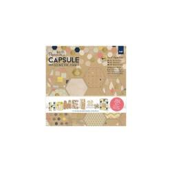 15x15cm Paper Pack (36pk) - Capsule -  Geometric Kraft