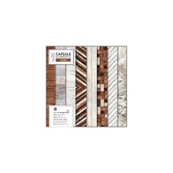 12 x 12 Paper Pack (36pk) - Elements Wood