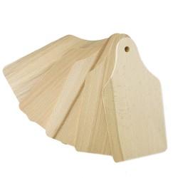 Planchettes en bois 22cm x 10cm x 0,8cm (5 pcs)