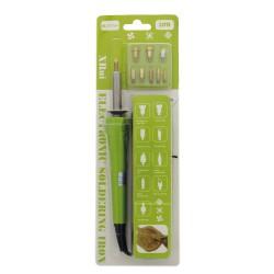 Wooden Burn Pen Set / Zipper Bag Packing + 9 tips, 30W