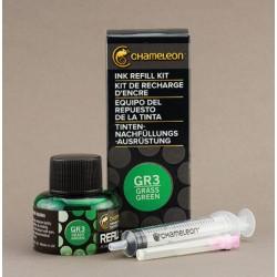 Chameleon Ink Refill 25ml Gras Green GR3