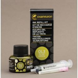 Chameleon Ink Refill 25ml Olive Green OL3