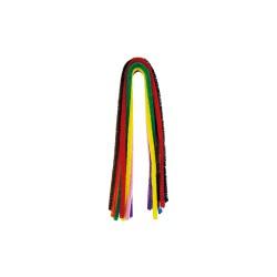 Chenille 8mm x 50cm P/10 kleuren mix ZKK