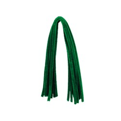 Chenille 8mm x 500mm without header card - Green (10 pcs)