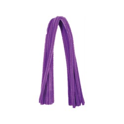 Chenille 8mm x 500mm without header card - Purple (10 pcs)