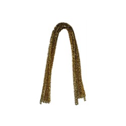 Chenille 8mm x 500mm without header card - Glitter gold (10 pcs)