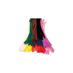 Chenille 8mm x 500mm without header card - Color mix (100 pcs)