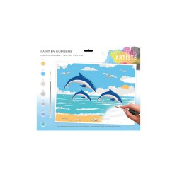 Large Paint by Numbers - Dolphin