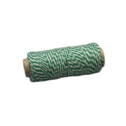 Katoenkoord 50gr groen/wit