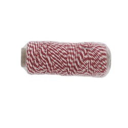 Katoenkoord 50gr rood/wit