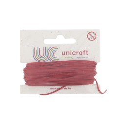 Carded waxed cotton 1mm x 10m - Red
