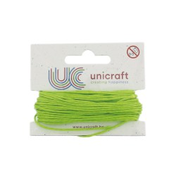 Carded waxed cotton 1mm x10m lime