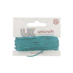 Carded waxed cotton 1mm x10m turquoise