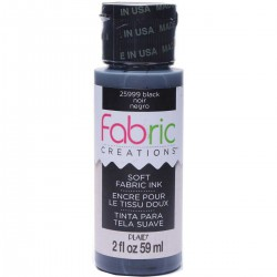 Fabric Creations Soft Fabric Ink 59ml Black