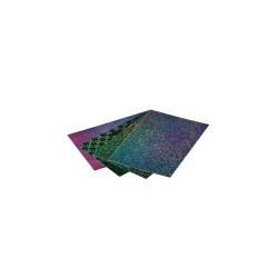 Holographic foil self-adhesive 23cm x 33cm - Assort. colors (4 pcs)