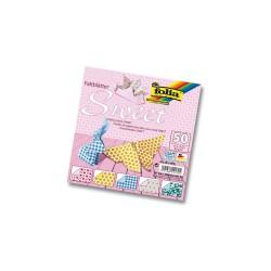 Vouwblad 15cmx15cm P/50 sweet