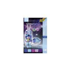 Glitterkarton 24cmx34cm P/5 mix