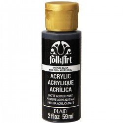 FolkArt Acrylic Colors 59ml Pure Black