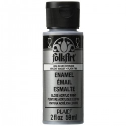 FolkArt Enamel 59ml Metallic Silver Sterling