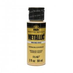 FolkArt Metallics 59ml Inca Gold