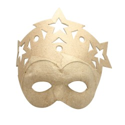 Mask in cardboard - Stars