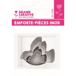 Mini inox cutters - Bird (3 pcs)