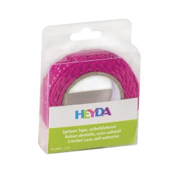 Lace Tape  2m x 15mm Pink