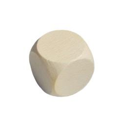 Houten dobbelsteen 60x60mm naturel zonder bedrukking
