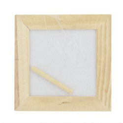 Frame 120x120mm white painted