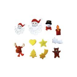 Christmas shapes assortment 105pcs