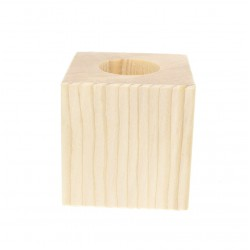 Candle holder Cube 8 cm