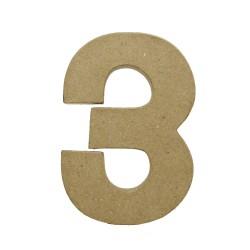 Paper Shape Number 20x13.75x2.5 cm 3