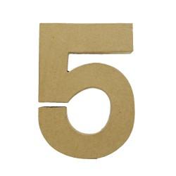 Paper Shape Number 20x13.75x2.5 cm 5