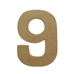 Paper Shape Number 20x13.75x2.5 cm 9