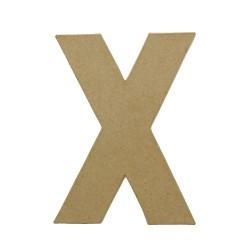 Paper Shape Letter 20x13.75x2.5 cm X