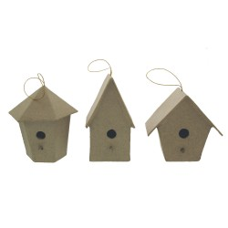 Paper Shape set 3 Birds houses
