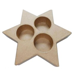 Candle Holder Star 15cm (without candle)
