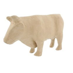 Papier maché large cow 40x10x26cm