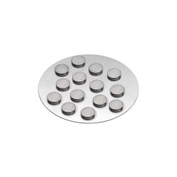Magnets extra strong 10mm x 2mm - Silver (12 pcs)