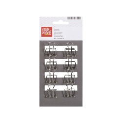 Clip Binders 19mm Silver (8 pcs)