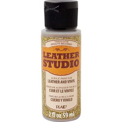 Leather Studio Paint 59ml Glitter Gold